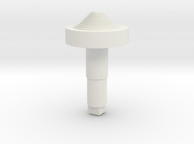 STEM_4WAY_COOLIE_3_MINIBASE in White Natural Versatile Plastic