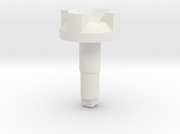 STEM_4WAY_CASTLE_2_CH in White Natural Versatile Plastic