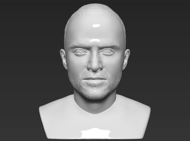Jesse Pinkman from Breaking Bad bust in White Natural Versatile Plastic