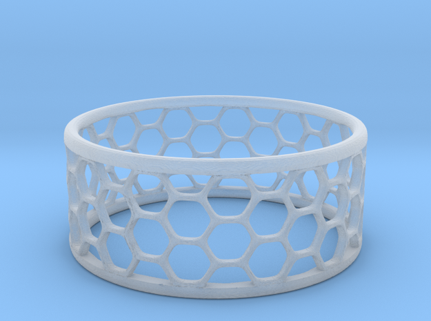 Hexagonal Ring in Smooth Fine Detail Plastic: 1.75 / -