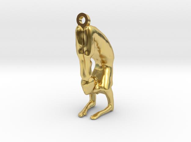 yoga jewelry pose - Vrischikasana in Polished Brass