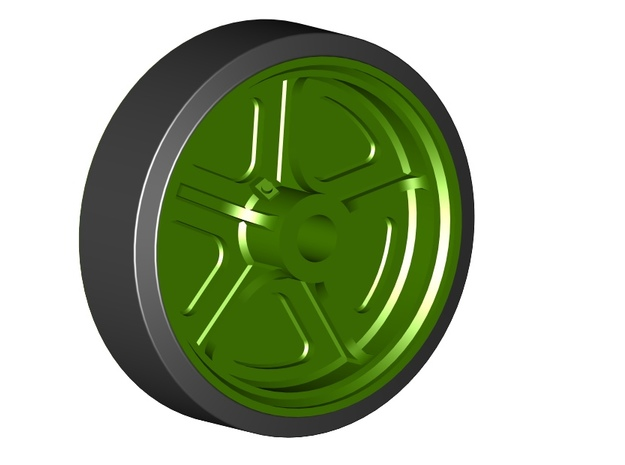 M5 Stuart C90652 Wheel Set in Smoothest Fine Detail Plastic
