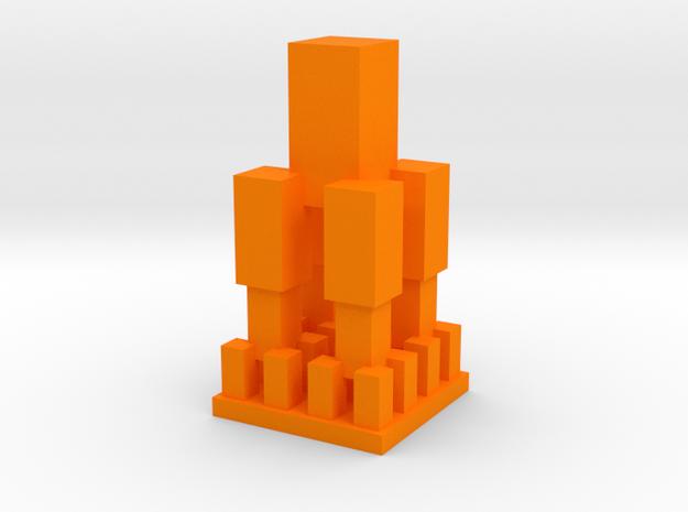 Replitower in Orange Processed Versatile Plastic: 1:8