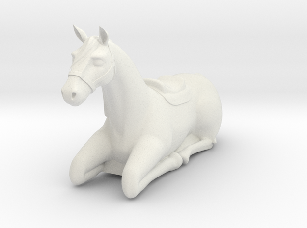 laying horse in White Natural Versatile Plastic