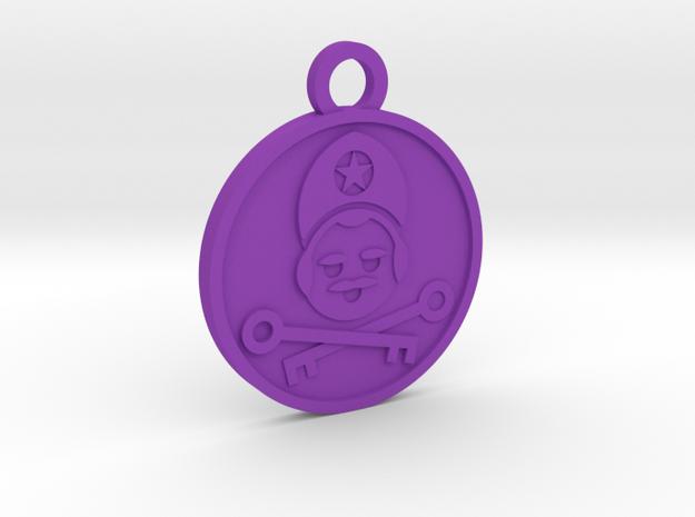 The Hierophant in Purple Processed Versatile Plastic