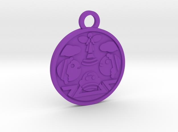 Judgement in Purple Processed Versatile Plastic