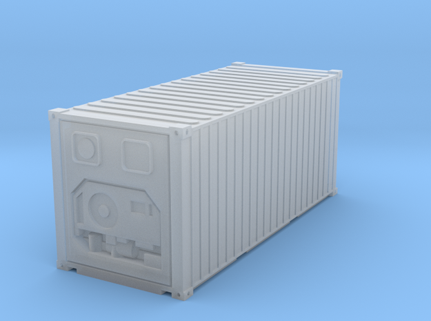 N scale refrigerated container in Smooth Fine Detail Plastic