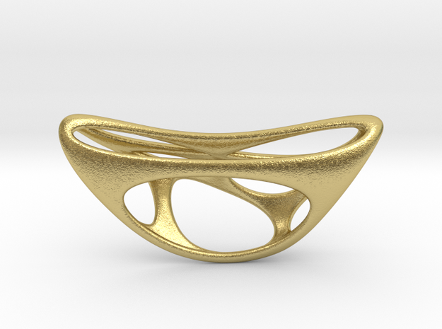CUBE 04-1-6mm extrude small STEEL in Natural Brass