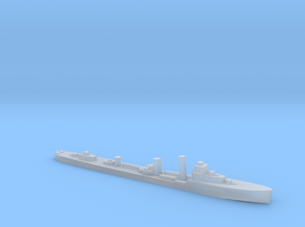 HMS Walpole destroyer-SR escort 1:3000 WW2 in Smoothest Fine Detail Plastic