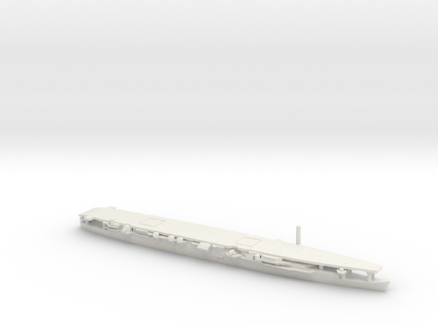 Japanese Aircraft Carrier Zuiho (Long Deck) in White Natural Versatile Plastic