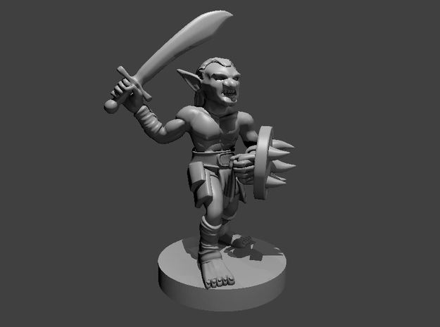 Goblin in Melee - Updated! in Smooth Fine Detail Plastic