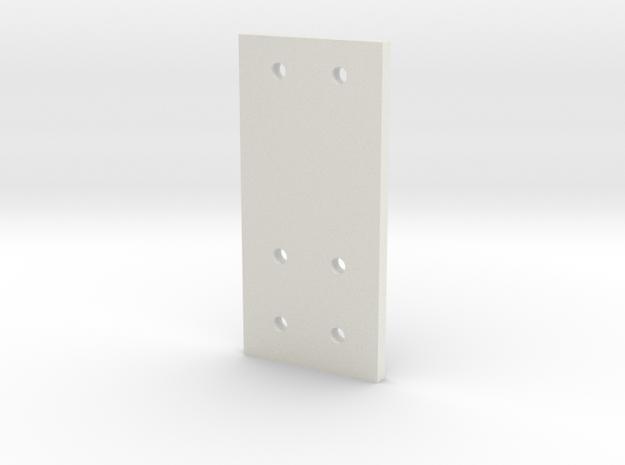 3 Gear Laydown Hole Guide V2 in White Natural Versatile Plastic