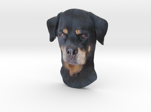 Reliëf / Rottweiler / 180mm / art.#MK009 in Natural Full Color Sandstone