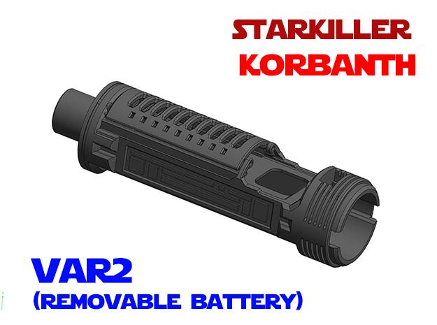 Korbanth SK1 (2019) - Lightsaber Chassis Var2 in White Natural Versatile Plastic