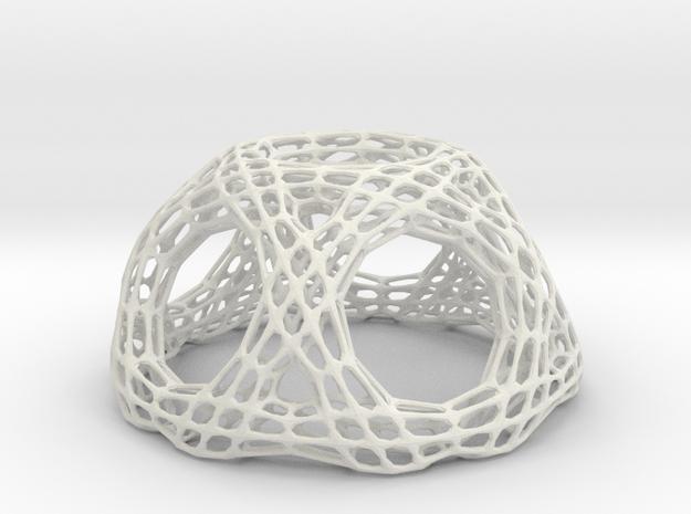 M53_TB10.178 dodeca vertex trunc frame in White Natural Versatile Plastic