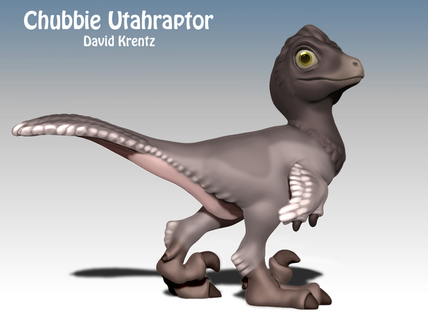 Raptor Chubbie  in White Processed Versatile Plastic