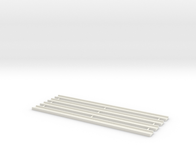 Motorway 1 Straight 1:1000 scale package in White Natural Versatile Plastic