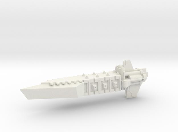 Chaos Renegade Escort Transport Ship in White Natural Versatile Plastic