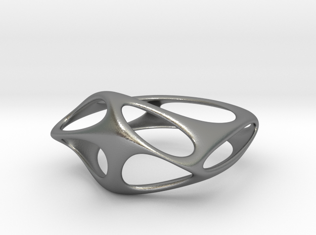 CUBE 04 RING 09 in Natural Silver
