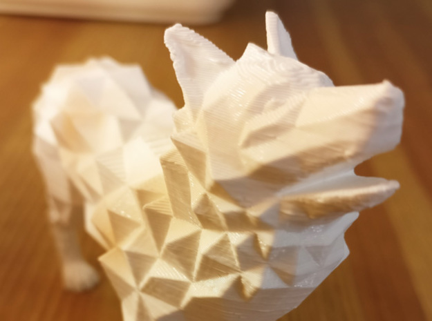 Timber wolf in White Natural Versatile Plastic