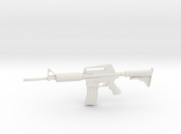 1:12 M16 Rifle in White Natural Versatile Plastic: 1:12