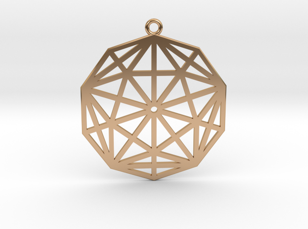 2D Rhombic Triacontahedron in Polished Bronze