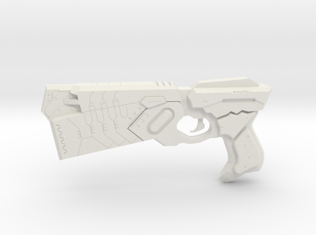 1:3 Miniature Dominator Gun - Psycho Pass in White Natural Versatile Plastic