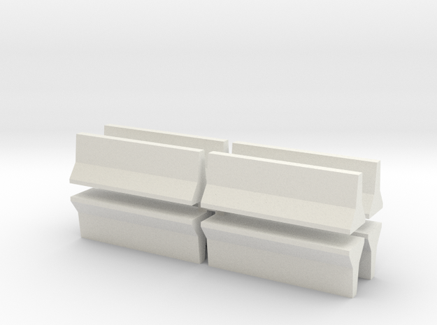 Barrier-JerseyWall-8 in White Natural Versatile Plastic