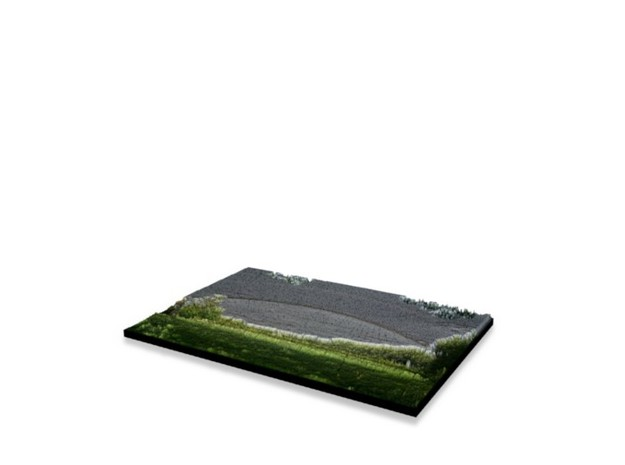 Full Color Photoshaper (13x9cm) in Full Color Sandstone
