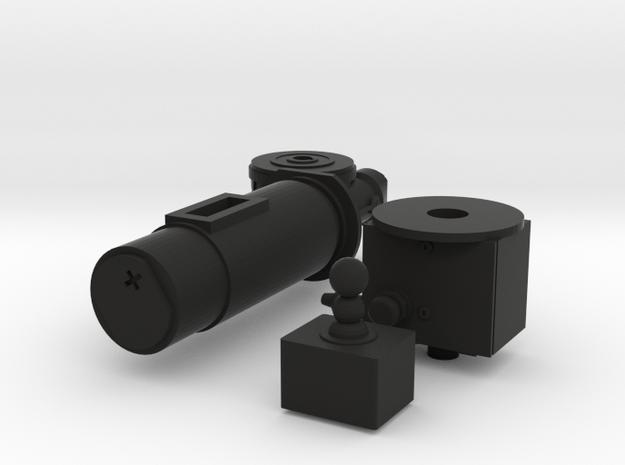 1/6 scale GoTruck Turret motor in Black Premium Versatile Plastic