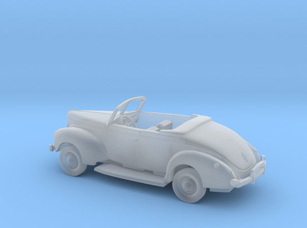 1/87 1940 Ford Eight Convertible Kit in Smooth Fine Detail Plastic