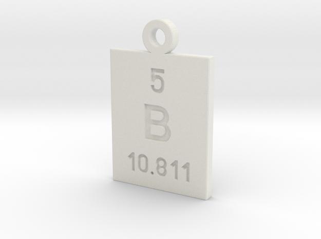 B Periodic Pendant in White Natural Versatile Plastic