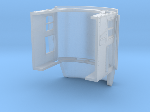 TT ATSF extended tapered cab with access in Smooth Fine Detail Plastic
