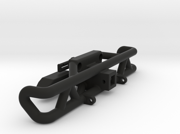 Axial Wraith Rear Bumper with Hitch and Shackle Mt in Black Natural Versatile Plastic