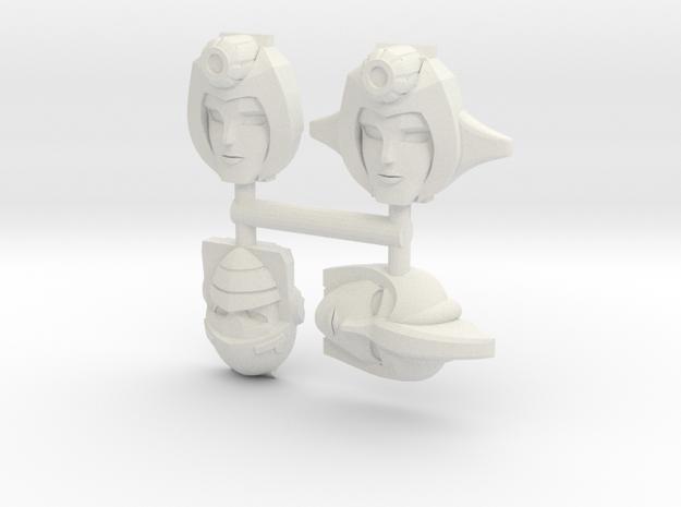 Firestar, Nightbird & Beta Faceplates in White Natural Versatile Plastic