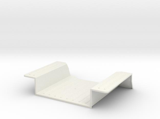 Tamiya Jeep YJ/CJ Interior Floor Panel Rear in White Natural Versatile Plastic