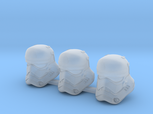 First Bucketheads (x3) in Smoothest Fine Detail Plastic
