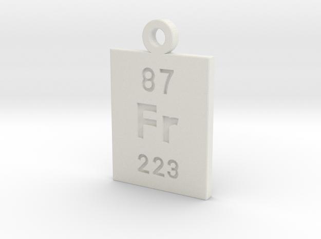 Fr Periodic Pendant in White Natural Versatile Plastic