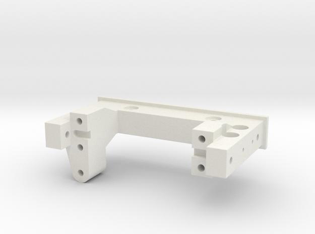 MST CFX/CFX-W Servo Plate with Panhard in White Natural Versatile Plastic