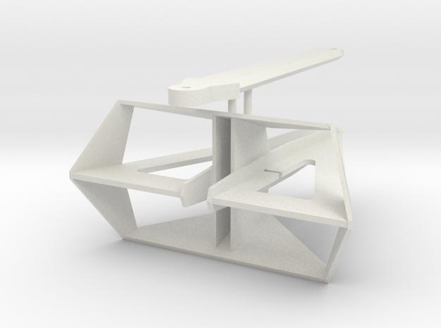 Delta Flipper Anchor in White Natural Versatile Plastic: Small