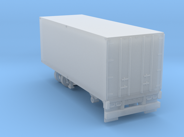 1-87 Scale Transit 19ft Trailer in Smooth Fine Detail Plastic