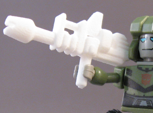 Space Scout Gun in White Natural Versatile Plastic
