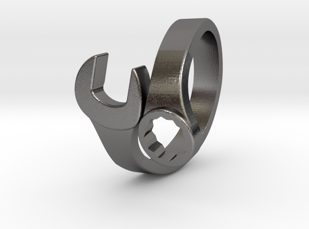 Combination Wrench Ring in Polished Nickel Steel: 7.5 / 55.5