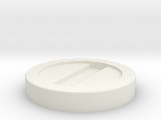 Clone Trooper Boot Disc in White Natural Versatile Plastic