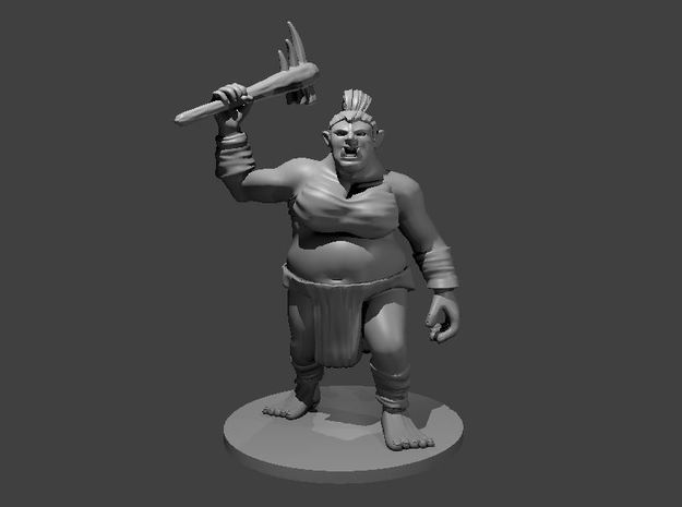 Female Ogre in Smooth Fine Detail Plastic