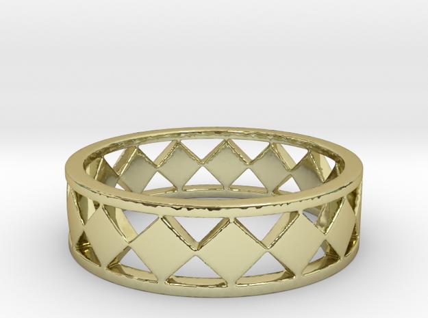 Diamond Bars Ring Band in 18K Yellow Gold: 7 / 54