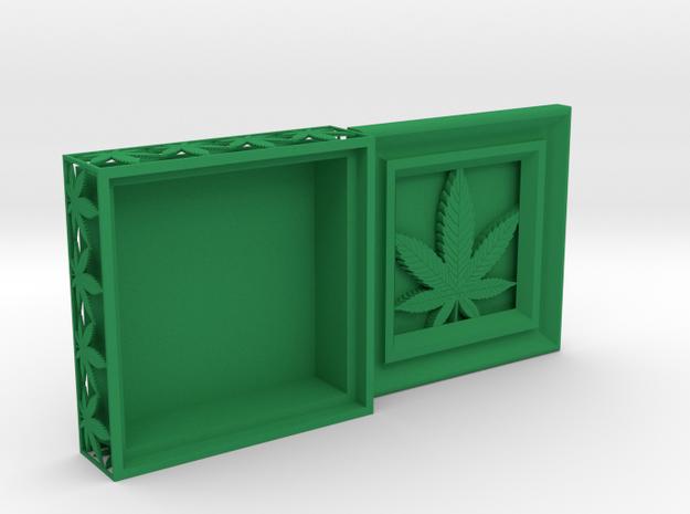 Stash Box Hemp in Green Processed Versatile Plastic