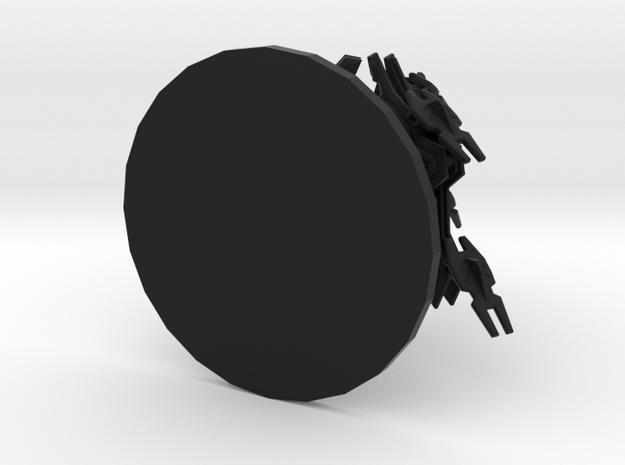 Creaticon in Black Natural Versatile Plastic: Small