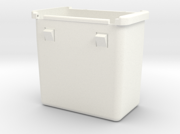 Lancia Delta Compartment BOX in White Processed Versatile Plastic