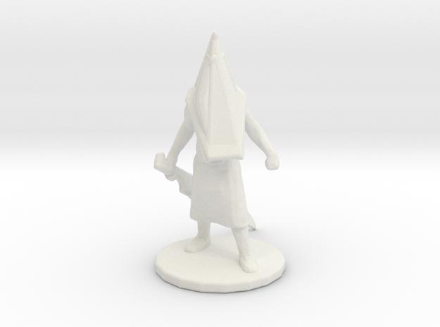 Silent Hill Pyramid Head 1/60 miniature fantasy rp in White Natural Versatile Plastic